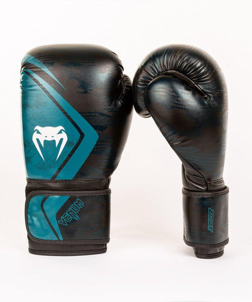 Venum Defender Contender 2.0 Boxing Gloves – Black/Green picture 2