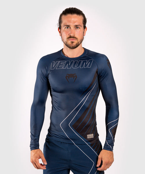 Venum Contender 5.0 Rashguard - Long sleeves - Navy/Sand picture 1