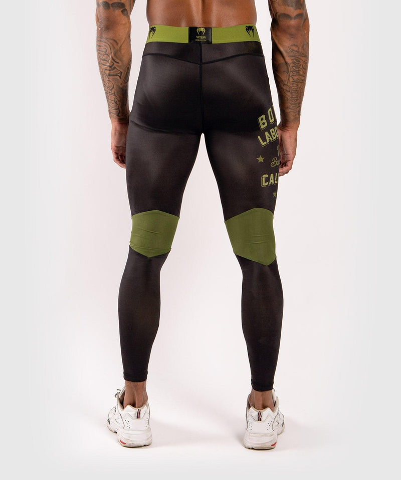 Venum Boxing Lab Compression Tights - Black/Green picture 2