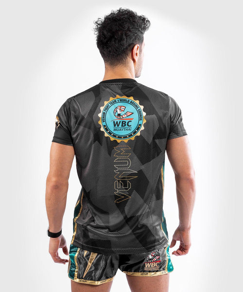 Venum WBC Muay Thai Dry Tech T-Shirt - Black/Green - Picture 2
