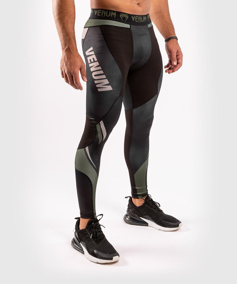 Venum ONE FC Impact Compresssion Tights - Black/Khaki - picture 4