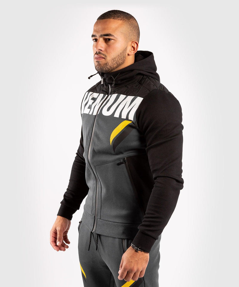 Venum ONE FC Impact Hoodie - Grey/Yellow - picture 3