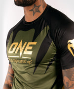 Venum x ONE FC Dry Tech T-shirt - Khaki/Gold picture 6