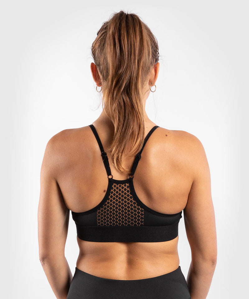 Venum Tecmo Sport Bra - For Women - Black/Bronze - picture 2