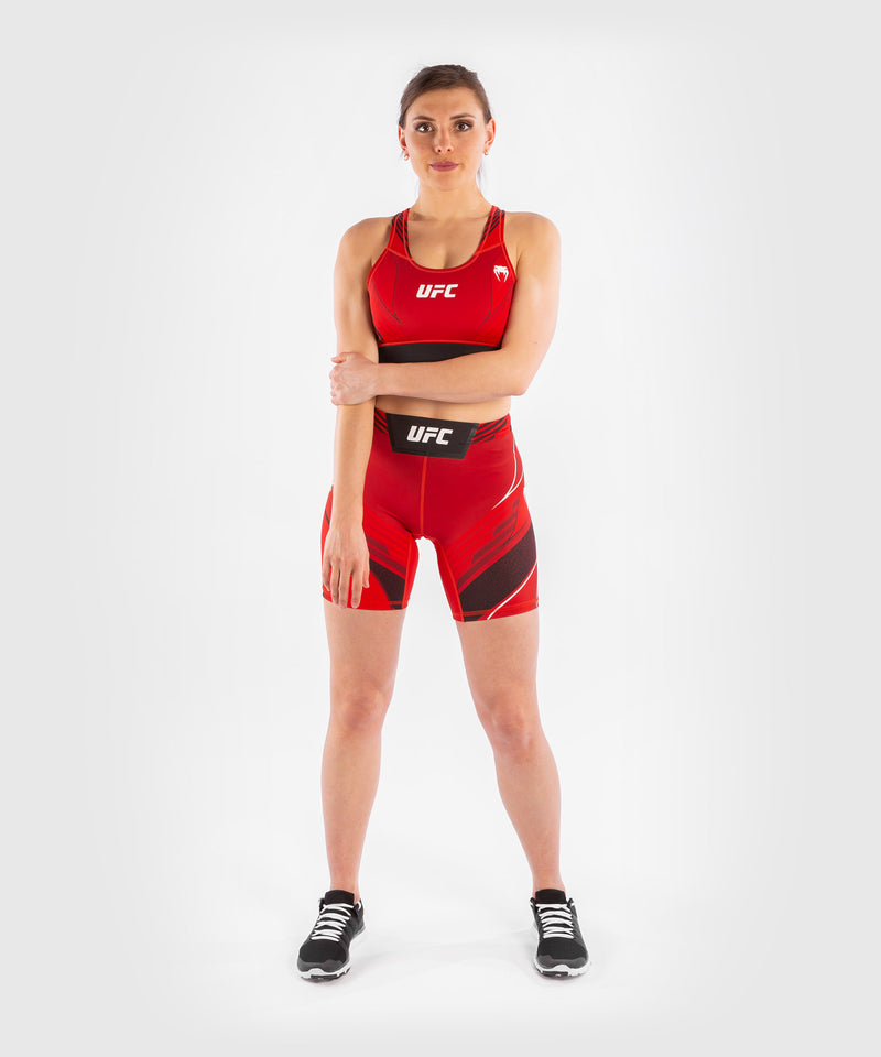 UFC Venum Authentic Fight Night Women's Vale Tudo Shorts - Long Fit – Red Picture 7