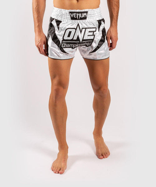 Venum x ONE FC Muay Thai Shorts - White/Black picture 1