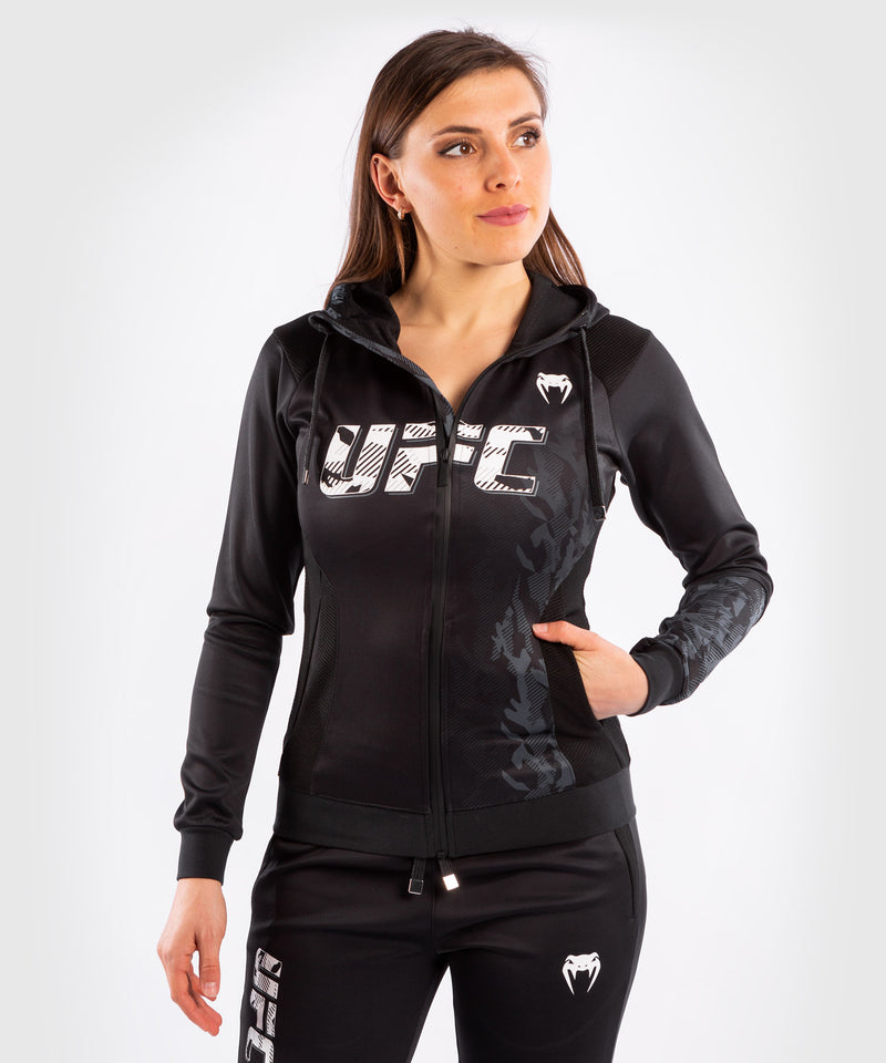 UFC Venum Authentic Fight Week Women's Zip Hoodie – Black Picture 1
