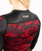 Venum Defender long sleeve Rashguard - for women - Black/Red picture 7