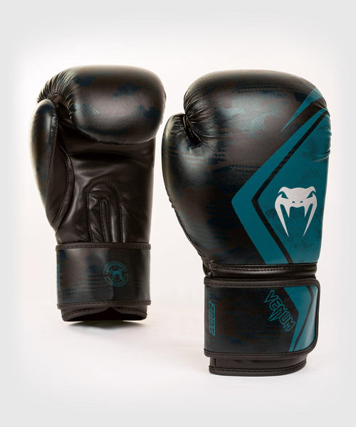 Venum Defender Contender 2.0 Boxing Gloves – Black/Green picture 1