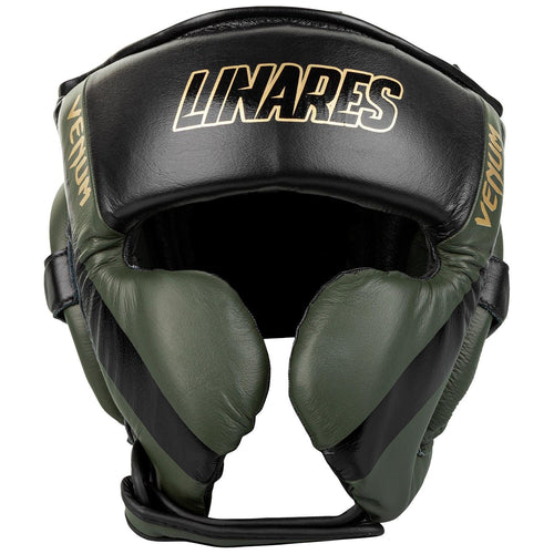 Venum Pro Boxing Headgear Linares Edition – Khaki/Black/Gold picture 1