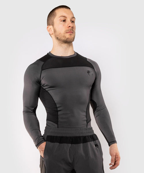 Venum G-Fit Rashguard - Long Sleeves – Grey/Black picture 1