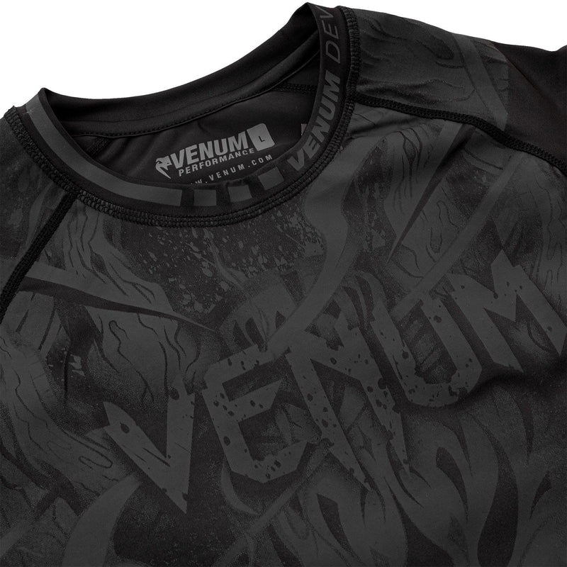 Venum Devil Rashguard - Short Sleeves – Black/Black picture 5