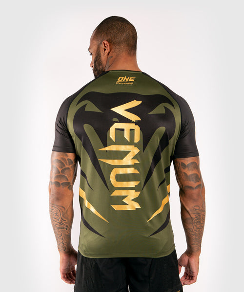 Venum x ONE FC Dry Tech T-shirt - Khaki/Gold picture 2