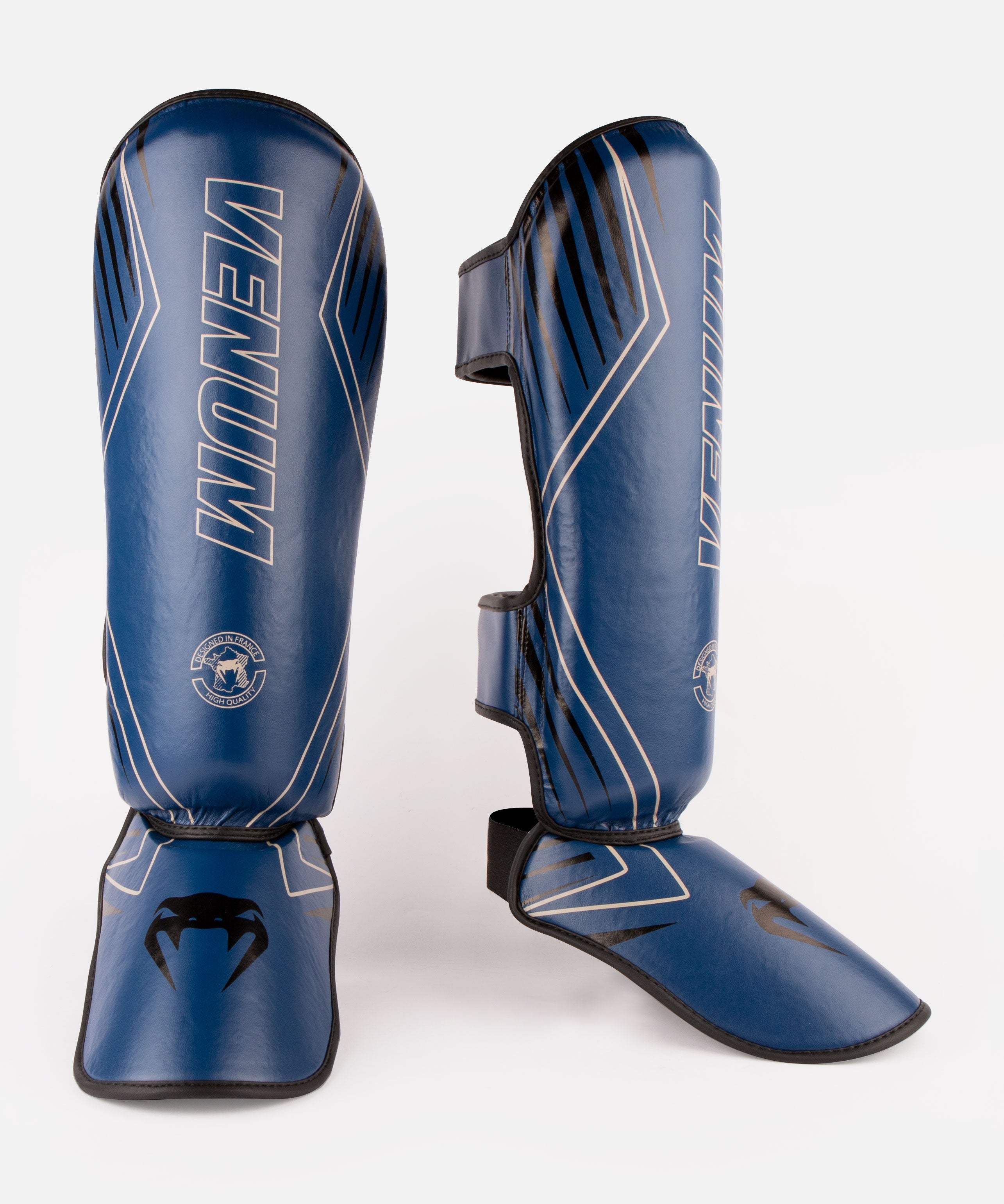 Venum Contender 2.0 Shin Guards - Navy/Sand picture 1