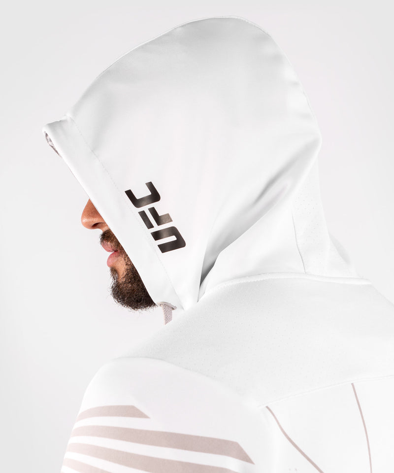 UFC Venum Personalized Authentic Fight Night Men's Walkout Hoodie - White picture 7