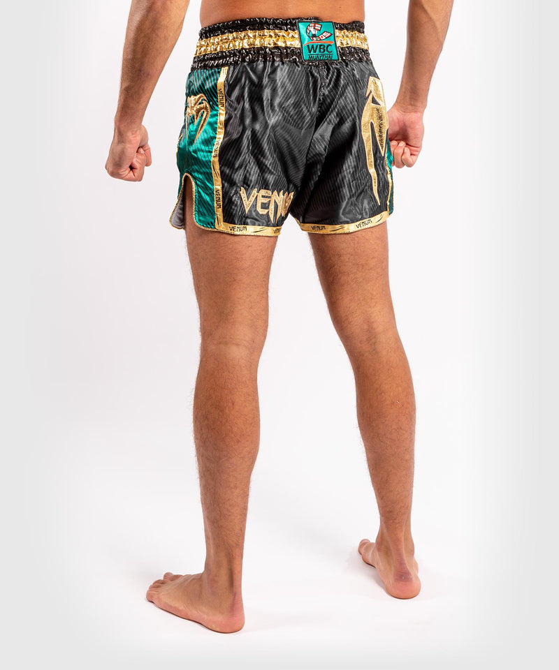 Venum WBC Muay Thai Shorts - Black/Green - Picture 4