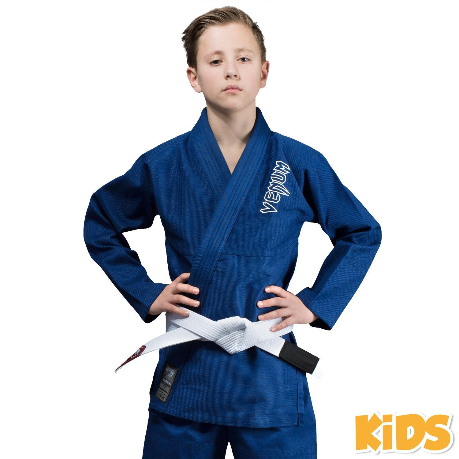 Venum Contender Kids BJJ Gi (Free white belt included) – Blue picture 1