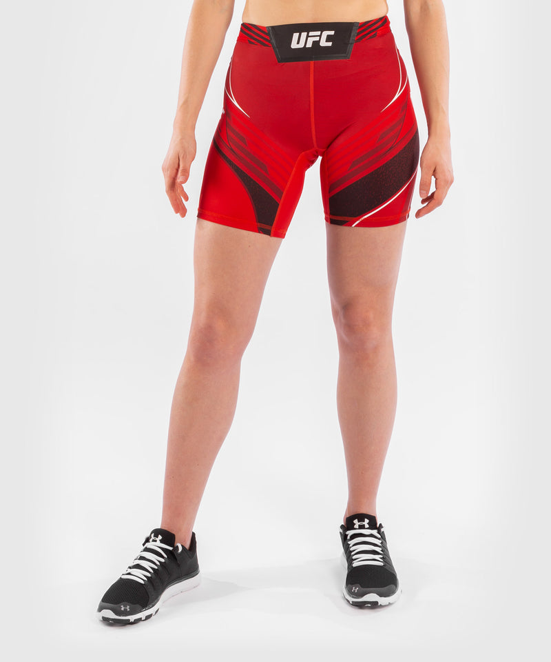 UFC Venum Authentic Fight Night Women's Vale Tudo Shorts - Long Fit – Red Picture 1
