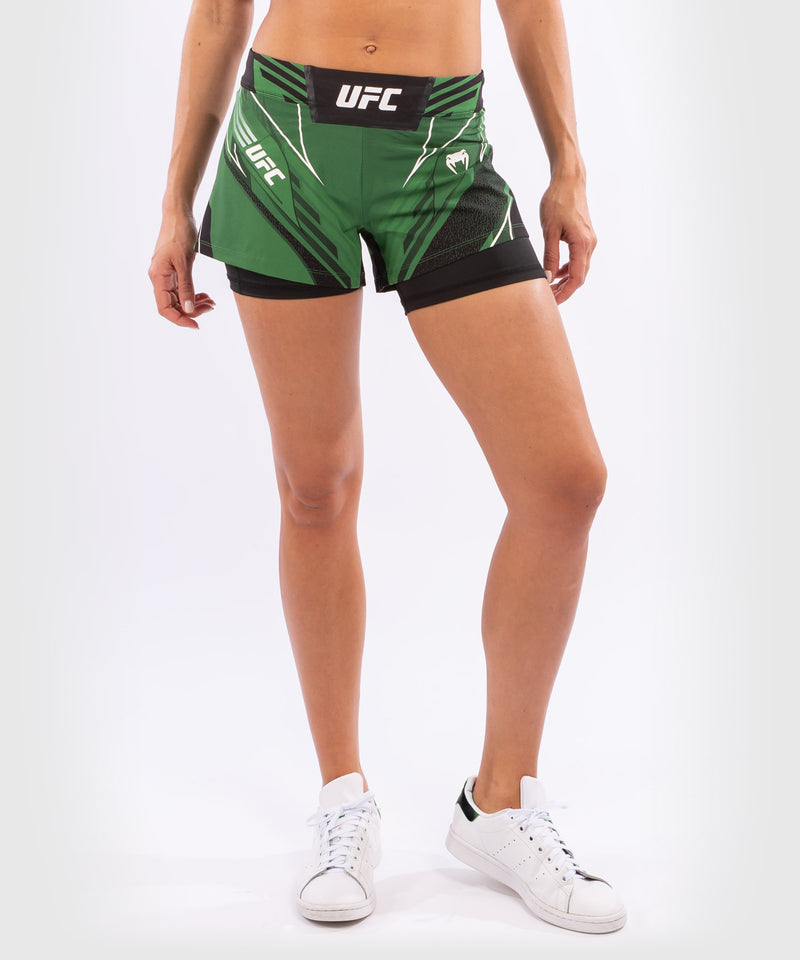 UFC Venum Authentic Fight Night Women's Shorts - Short Fit – Green Picture 4