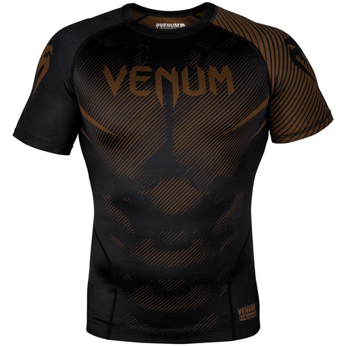 Venum NoGi 2.0 Rashguard - Short Sleeves – Black/Brown picture 1