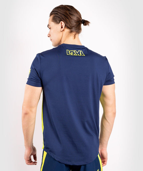 Venum Origins Dry Tech T-shirt - Blue/Yellow picture 2