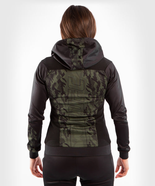 UFC Venum Authentic Fight Week Women's Zip Hoodie – Khaki Picture 2