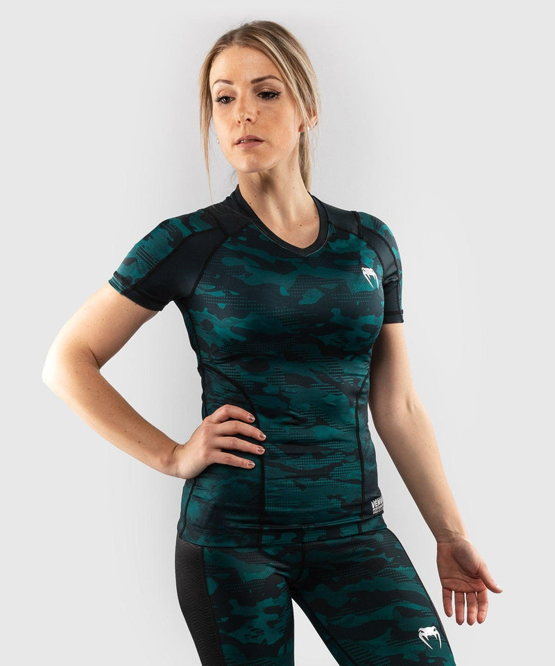 Venum Defender Rashguard - Short Sleeves - Black/Green picture 3