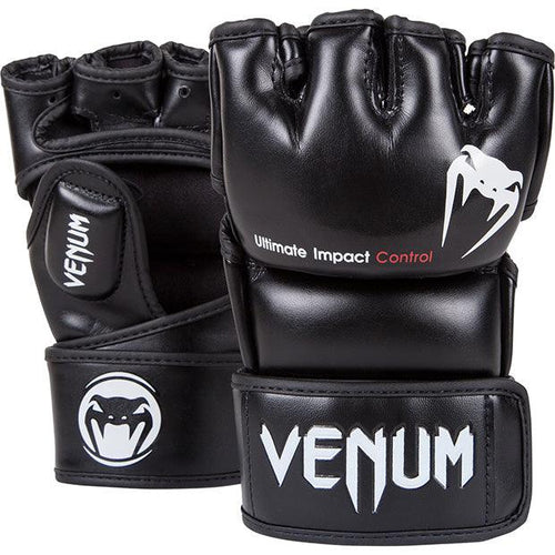 Venum Impact MMA Gloves - Skintex Leather – Black picture 1