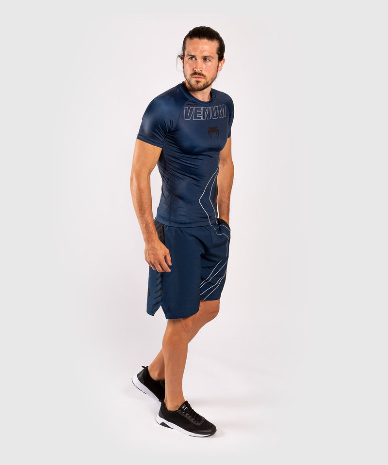 Venum Contender 5.0 Rashguard - Short sleeves - Navy/Sand picture 9