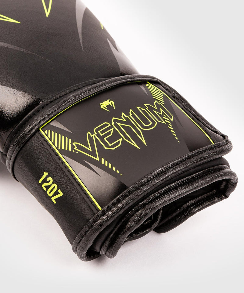 Venum Impact Boxing Gloves - Black/Neo Yellow - picture 3