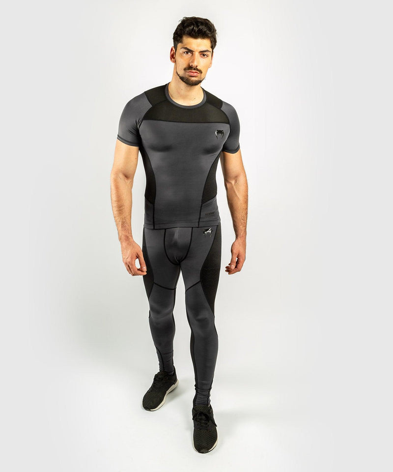 Venum G-Fit Rashguard - Short Sleeves - Grey/Black picture 8