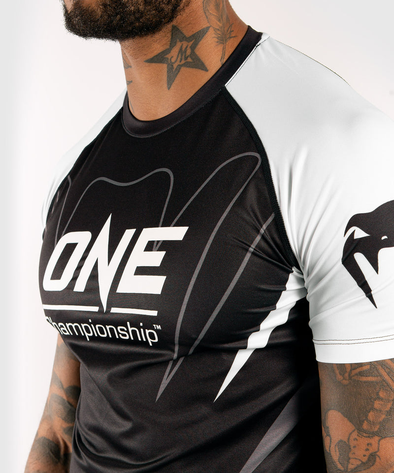 Venum x ONE FC Dry Tech T-shirt - White/Black picture 5