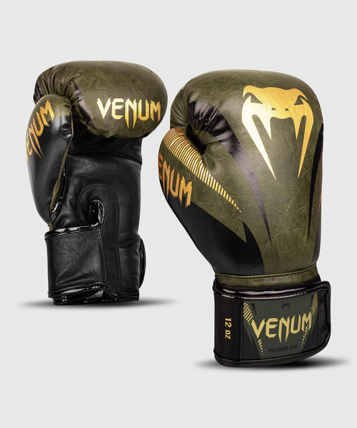 Venum Impact Boxing Gloves – Khaki/Gold picture 1