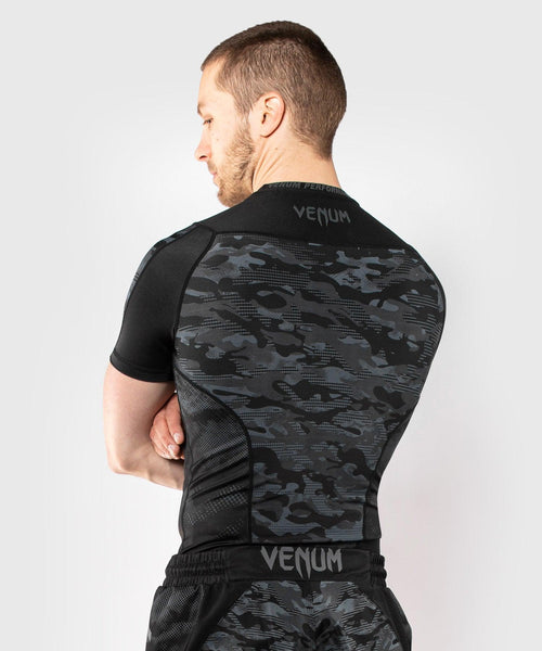 Venum Defender Short Sleeve Rashguard - Dark camo picture 2