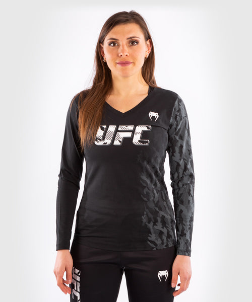 UFC Venum Authentic Fight Week Women's Long Sleeve T-shirt – Black Picture 1