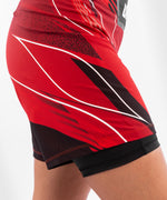 UFC Venum Authentic Fight Night Women's Shorts - Long Fit – Red Picture 7