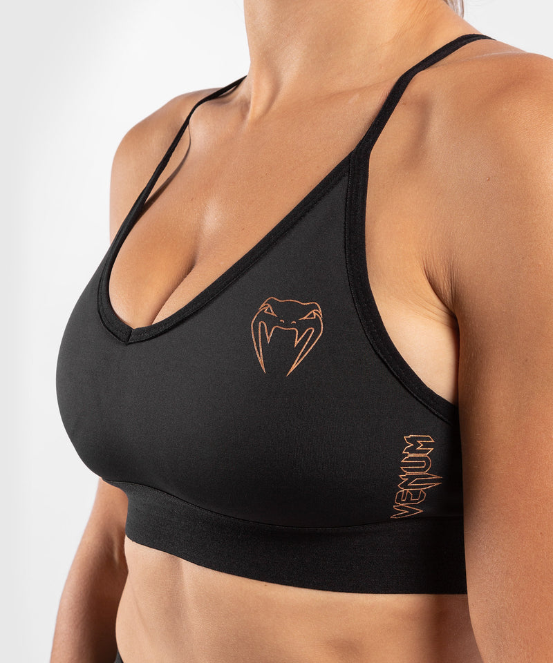 Venum Tecmo Sport Bra - For Women - Black/Bronze - picture 5
