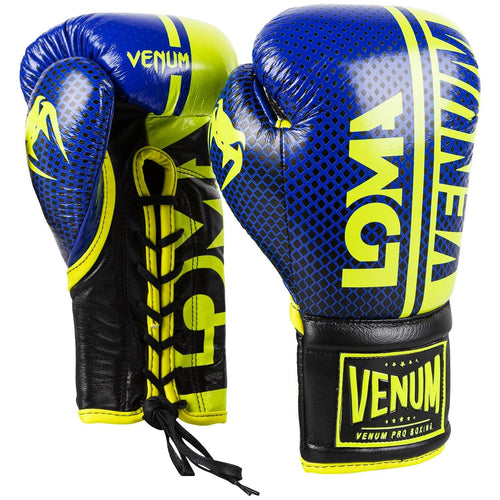 Venum Shield Pro Boxing Gloves Loma Edition - With Laces – Blue/Yellow picture 1