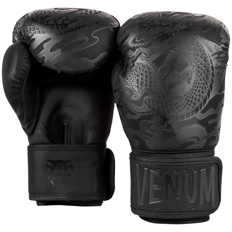 Venum Dragon's Flight Boxing Gloves – Black/Black picture 3