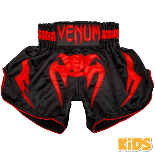 Venum Bangkok Inferno Kids Muay Thai Shorts – Black/Red picture 1