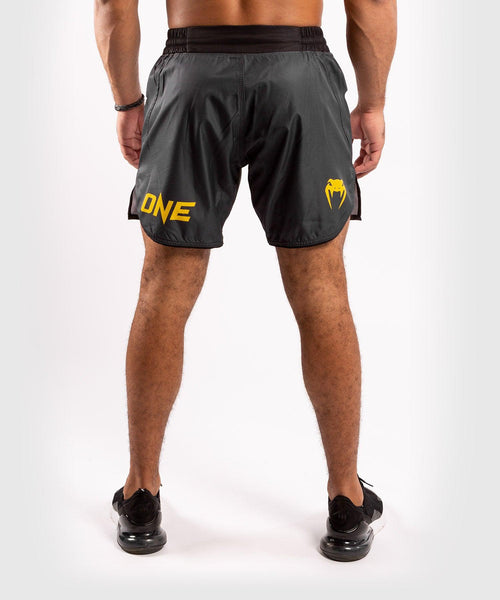 Venum ONE FC Impact Fightshorts - Grey/Yellow - picture 2
