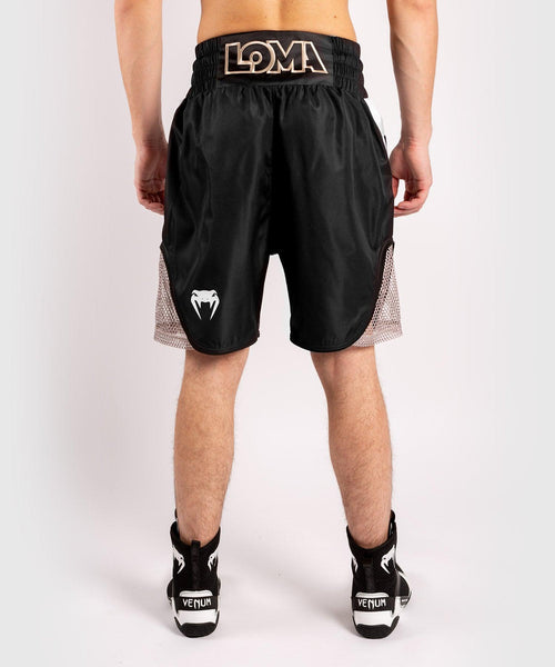 Venum Arrow Loma SIgnature Collection Boxing Shorts - Black/White picture 2