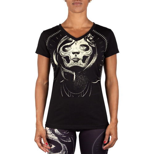 Venum Santa Muerte T-shirt - Black/Yellow - For Women picture 1
