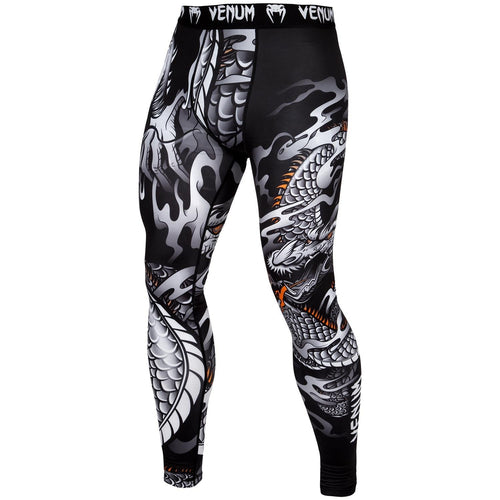 Venum Dragon's Flight Spats – Black/White picture 1