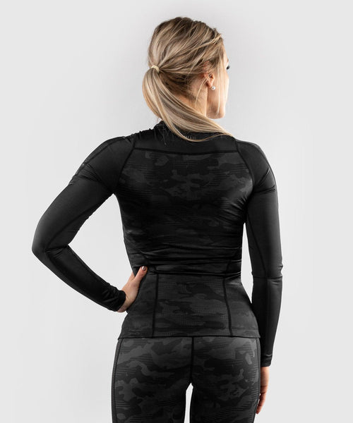 Venum Defender long sleeve Rashguard - for women - Black/Black picture 2