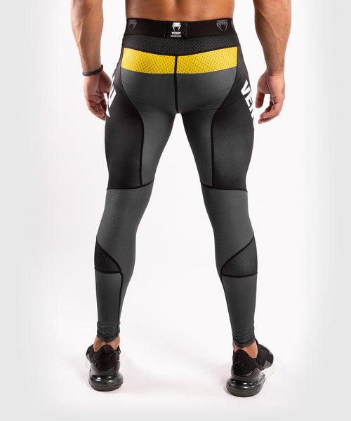 Venum ONE FC Impact Compresssion Tights - Grey/Yellow - picture 4