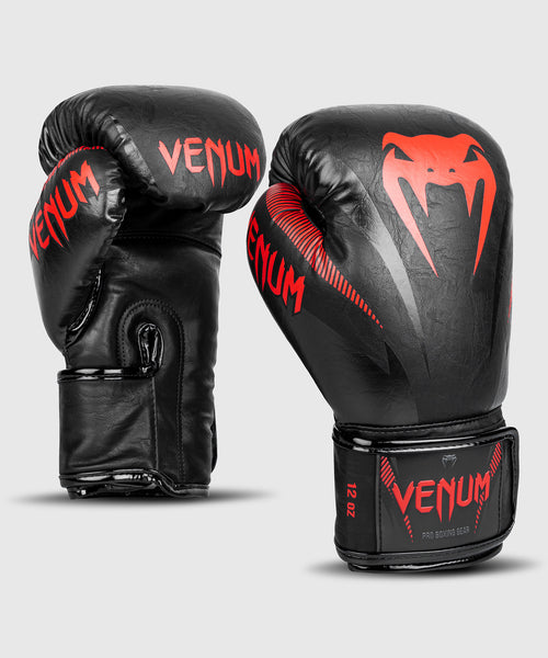 Venum Impact Boxing Gloves – Black/Red picture 1