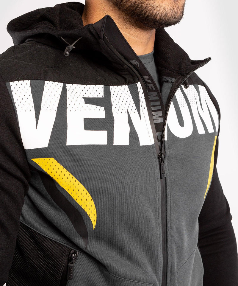 Venum ONE FC Impact Hoodie - Grey/Yellow - picture 5