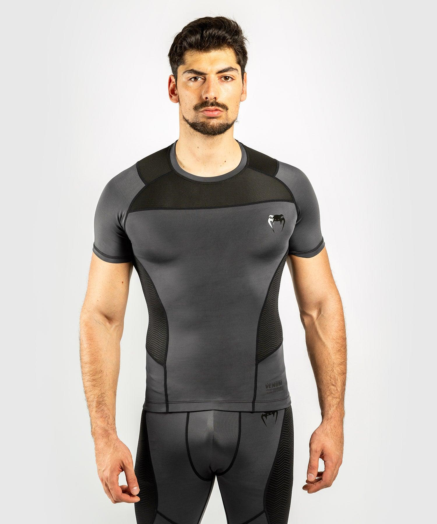 Venum G-Fit Rashguard - Short Sleeves - Grey/Black picture 1