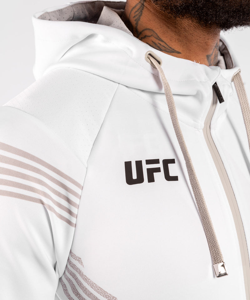 UFC Venum Personalized Authentic Fight Night Men's Walkout Hoodie - White picture 5